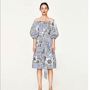 Zara midi off shoulder tunic dress. Large
